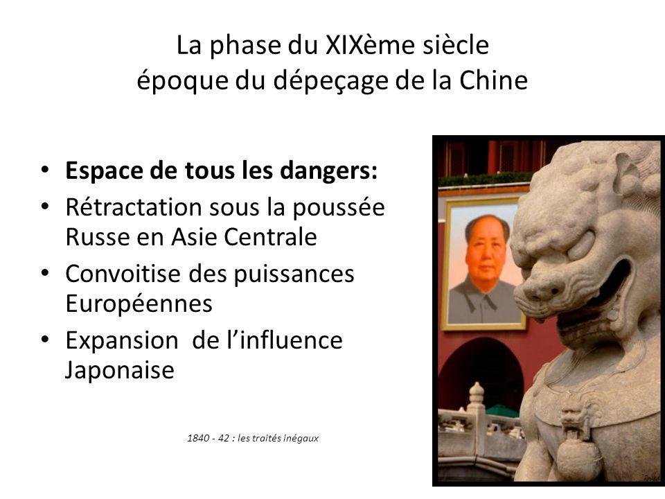 La phase du XIXème siècle époque du dépeçage de la Chine