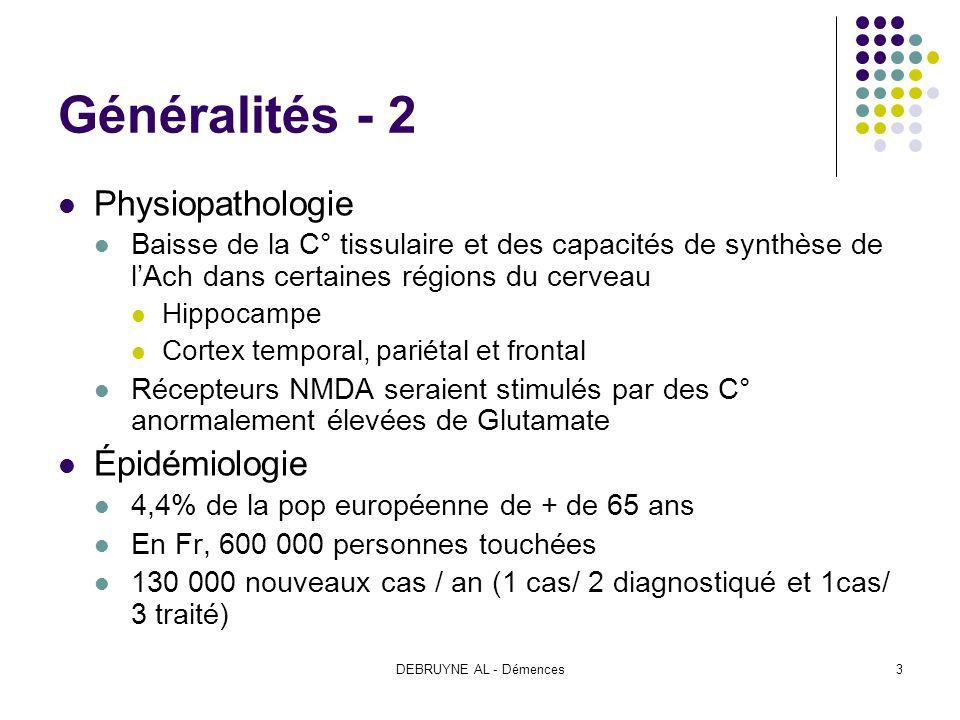 Généralités - 2 Physiopathologie Épidémiologie