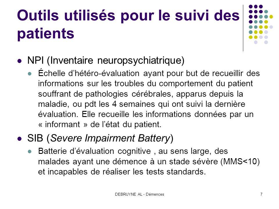 Outils utilisés pour le suivi des patients