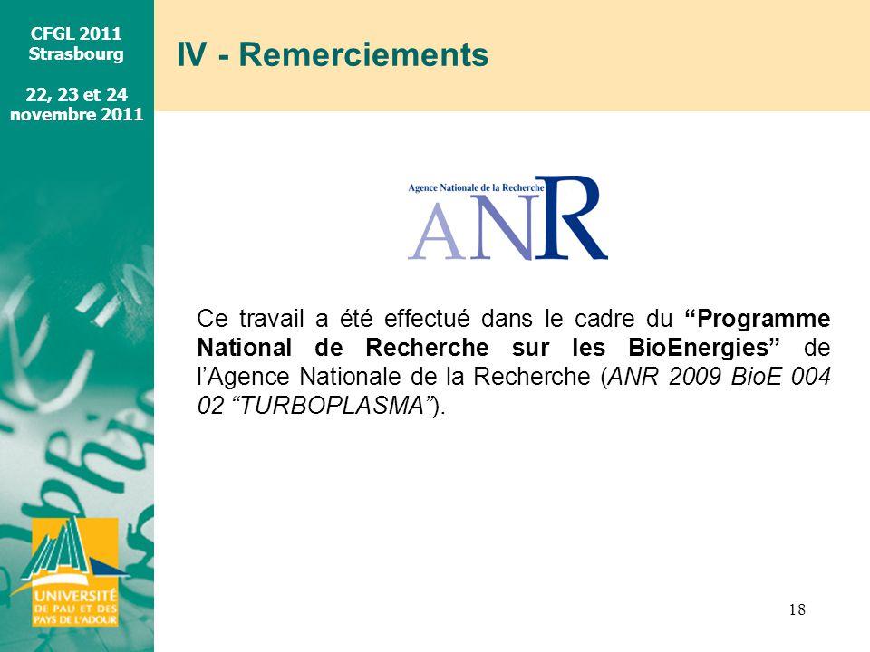 IV - Remerciements