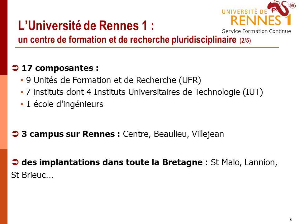 L'Université de Rennes 1 : un centre de formation et de recherche pluridisciplinaire (2/5)
