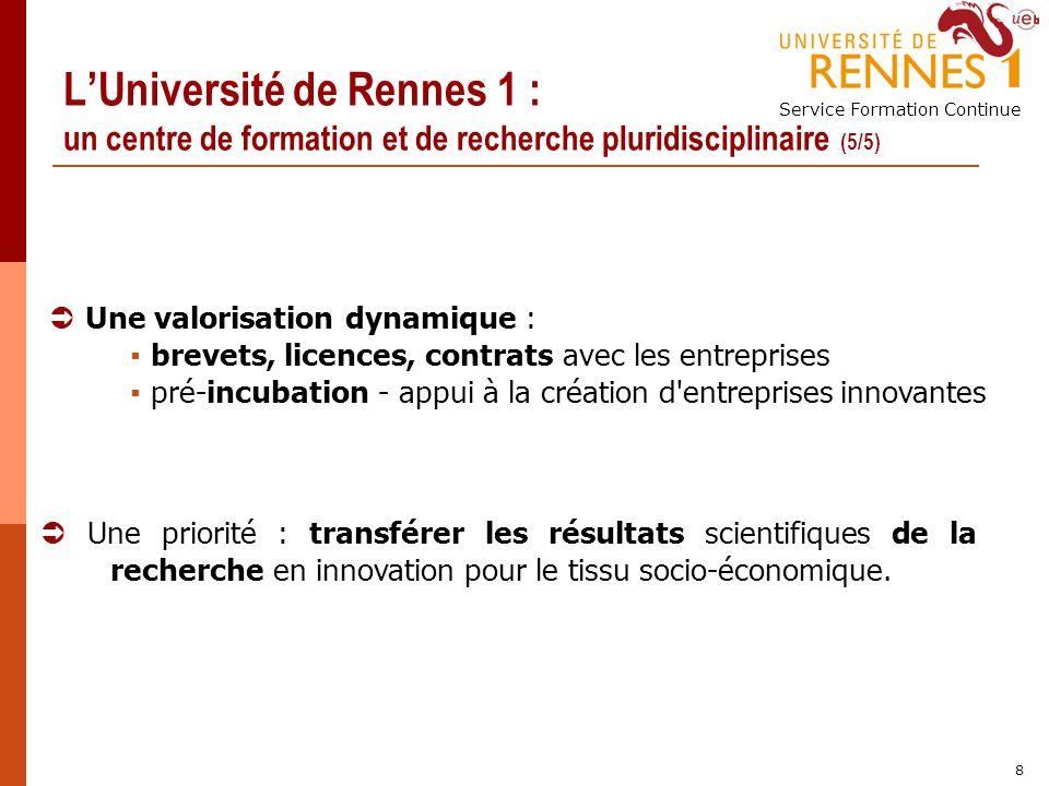 L'Université de Rennes 1 : un centre de formation et de recherche pluridisciplinaire (5/5)
