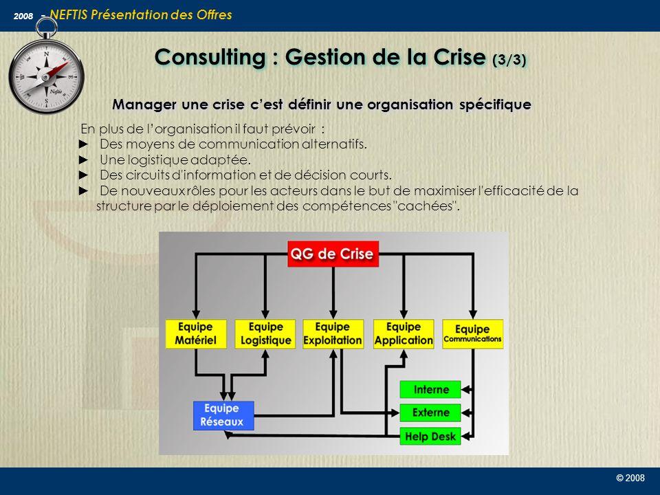 Consulting : Gestion de la Crise (3/3)