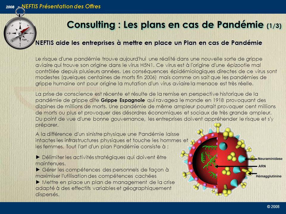 Consulting : Les plans en cas de Pandémie (1/3)