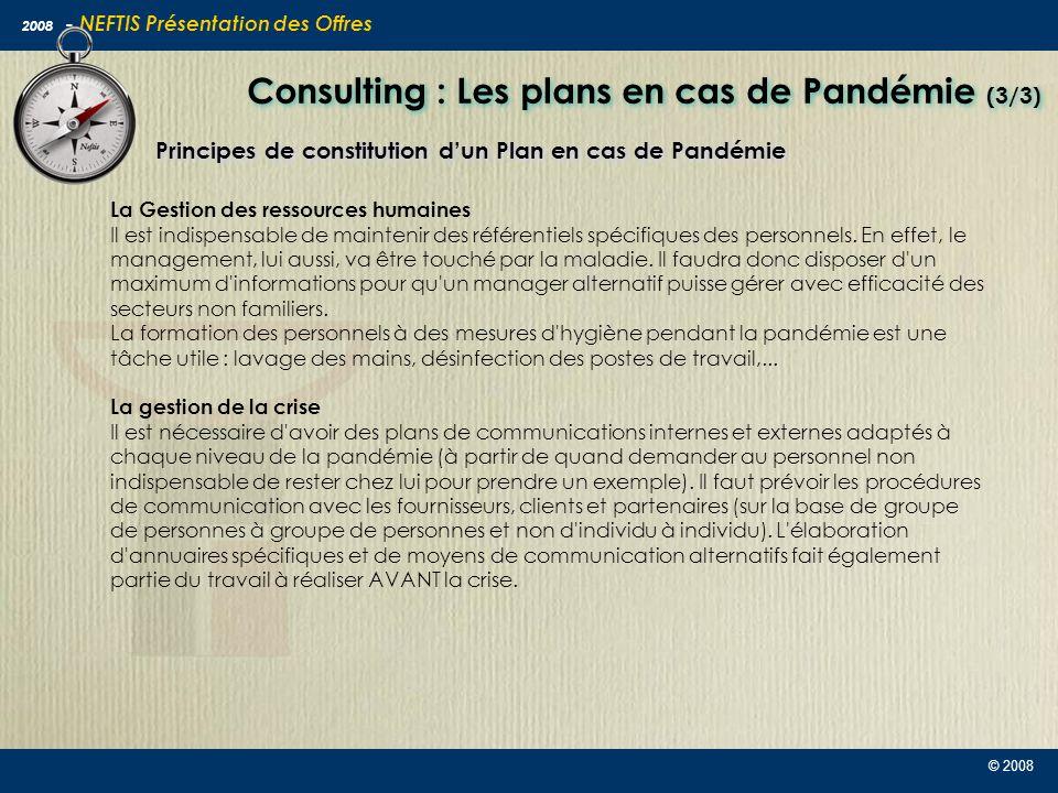 Consulting : Les plans en cas de Pandémie (3/3)