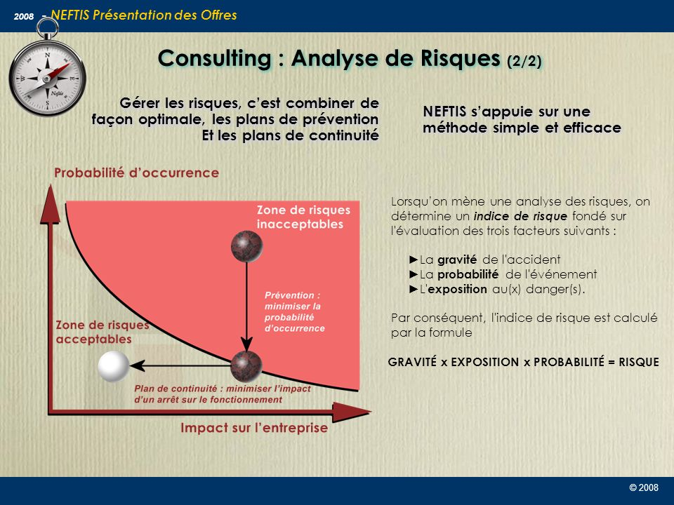 Consulting : Analyse de Risques (2/2)