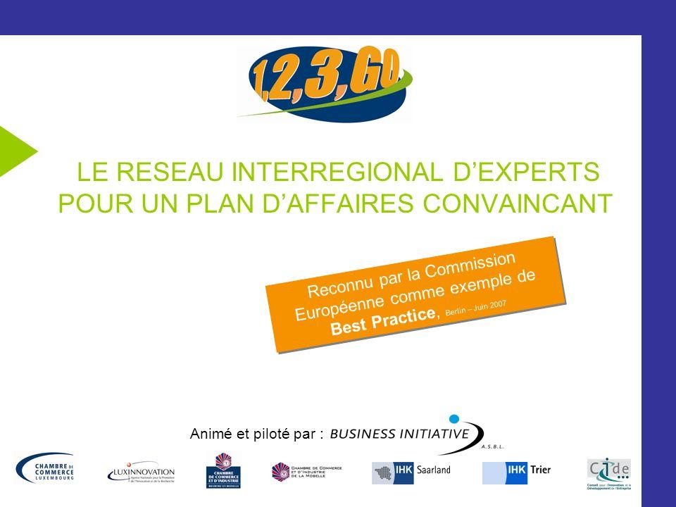 LE RESEAU INTERREGIONAL D'EXPERTS POUR UN PLAN D'AFFAIRES CONVAINCANT