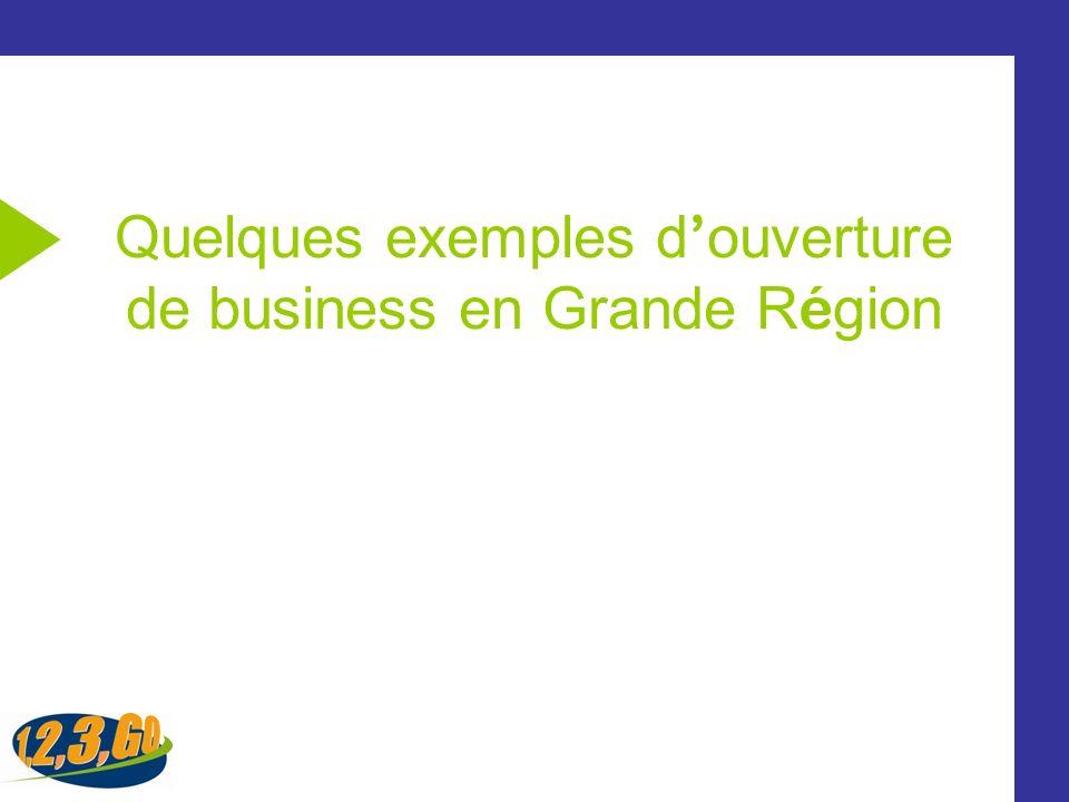 Quelques exemples d'ouverture de business en Grande Région