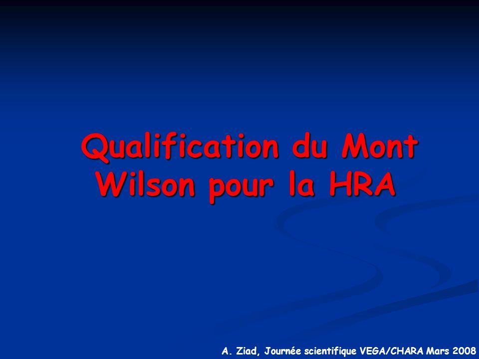 Qualification du Mont Wilson pour la HRA