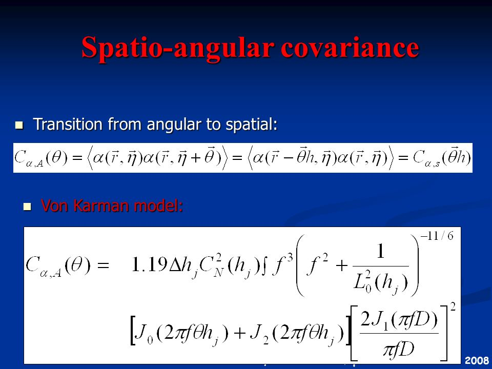 Spatio-angular covariance