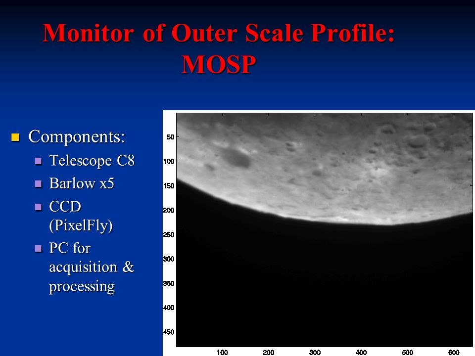 Monitor of Outer Scale Profile: MOSP