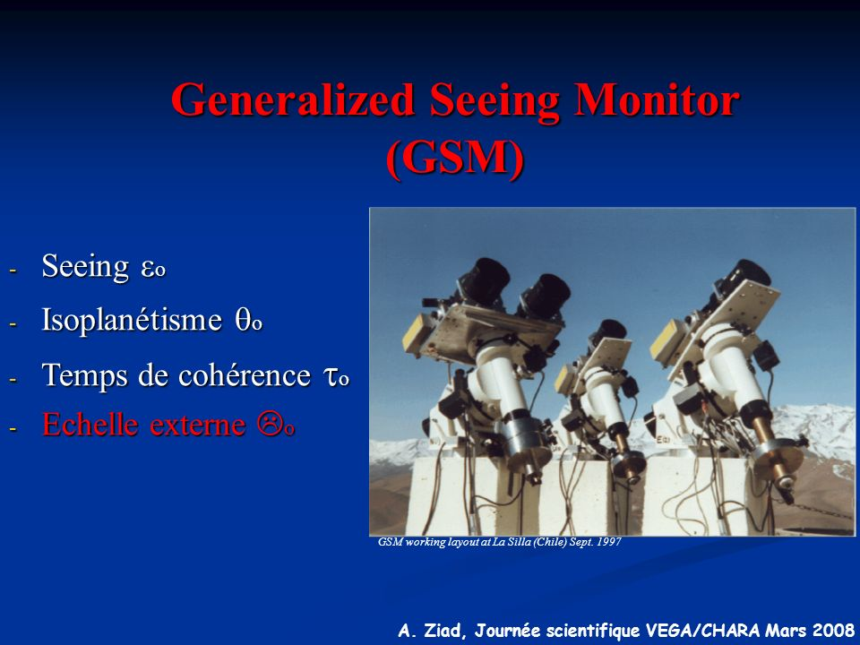 Generalized Seeing Monitor (GSM)