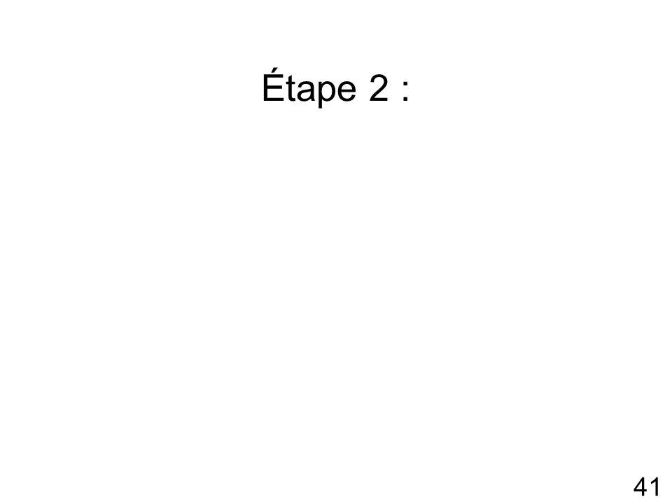 Étape 2 :