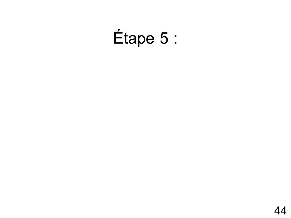 Étape 5 :
