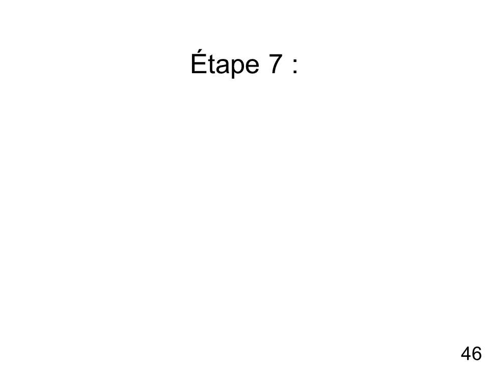 Étape 7 :