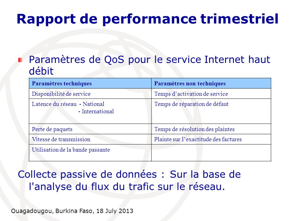 Rapport de performance trimestriel