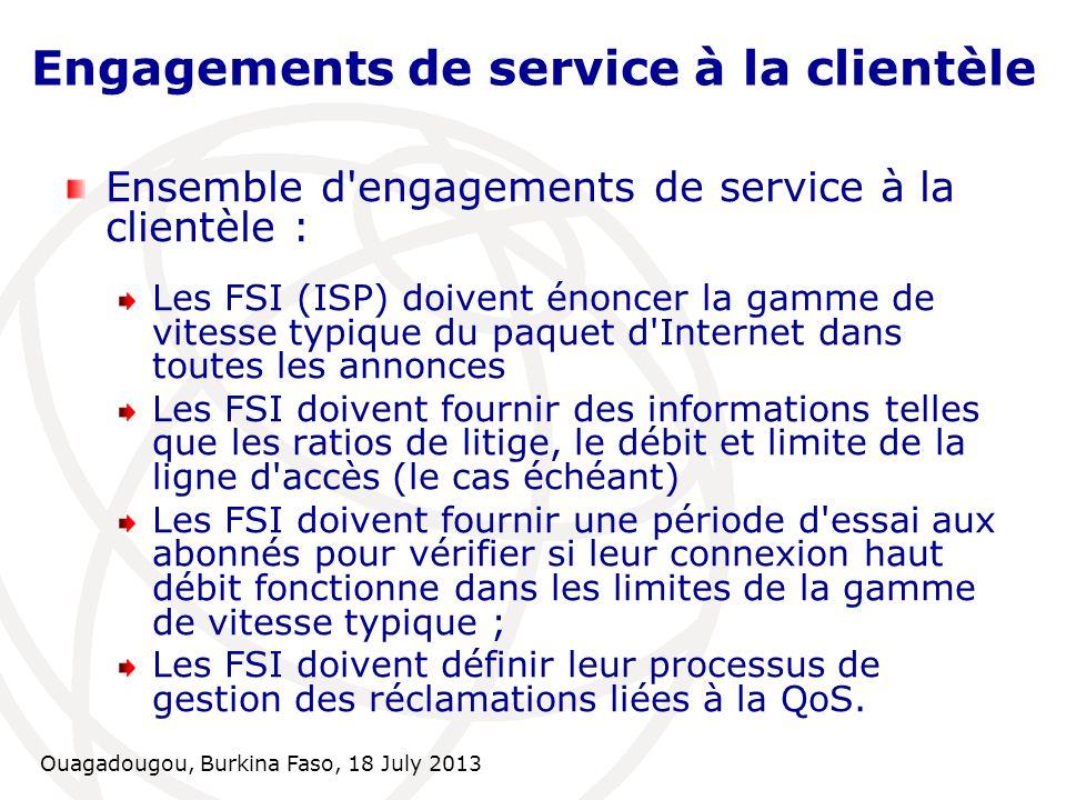 Engagements de service à la clientèle