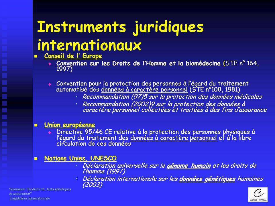 Instruments juridiques internationaux
