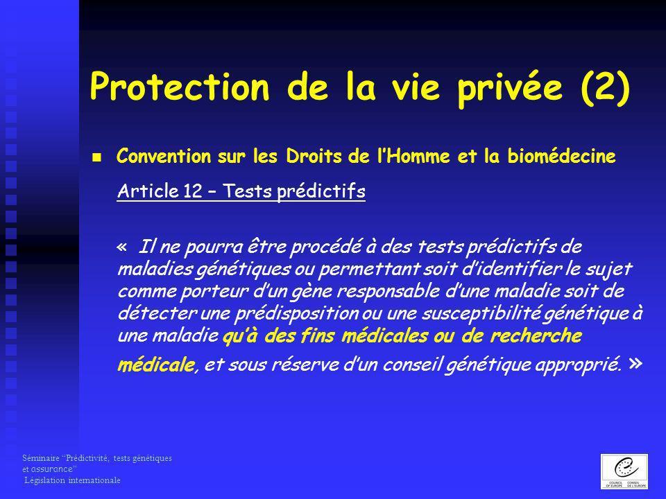Protection de la vie privée (2)