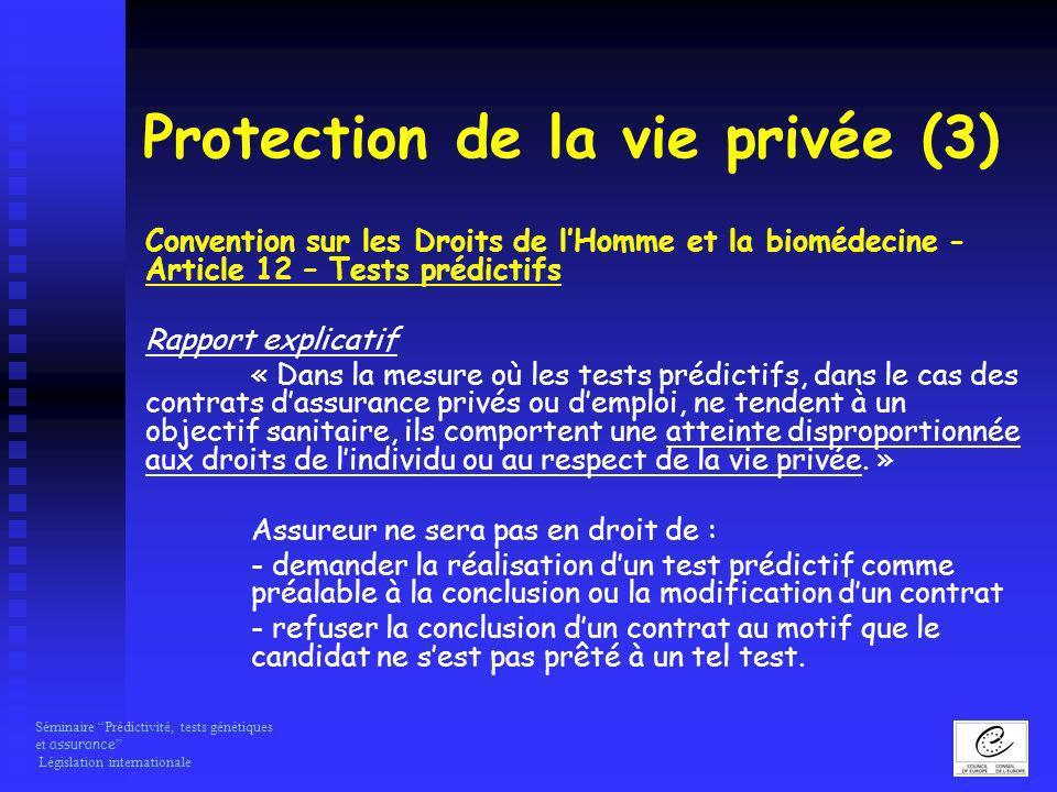 Protection de la vie privée (3)
