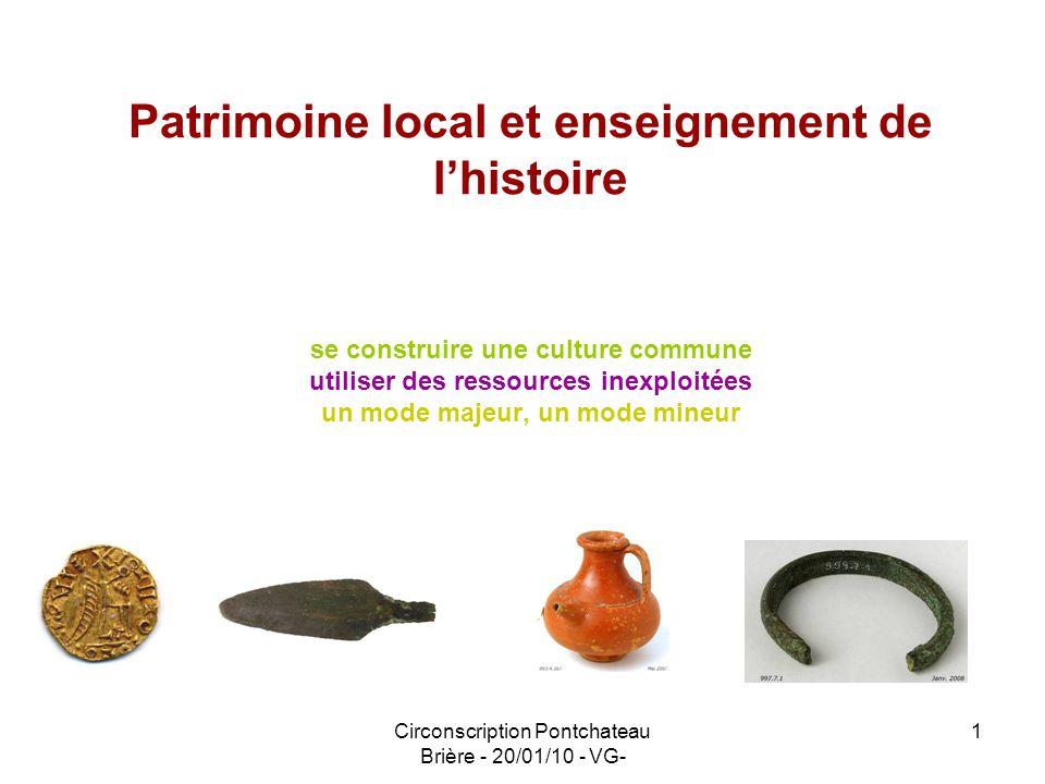 Patrimoine local et enseignement de l'histoire