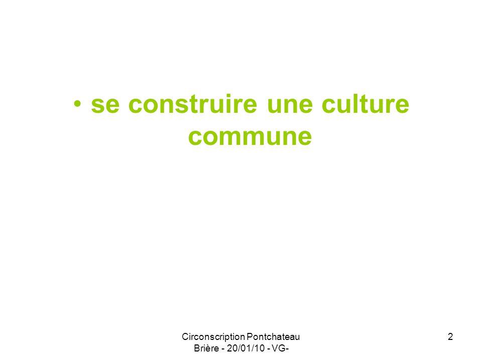 se construire une culture commune