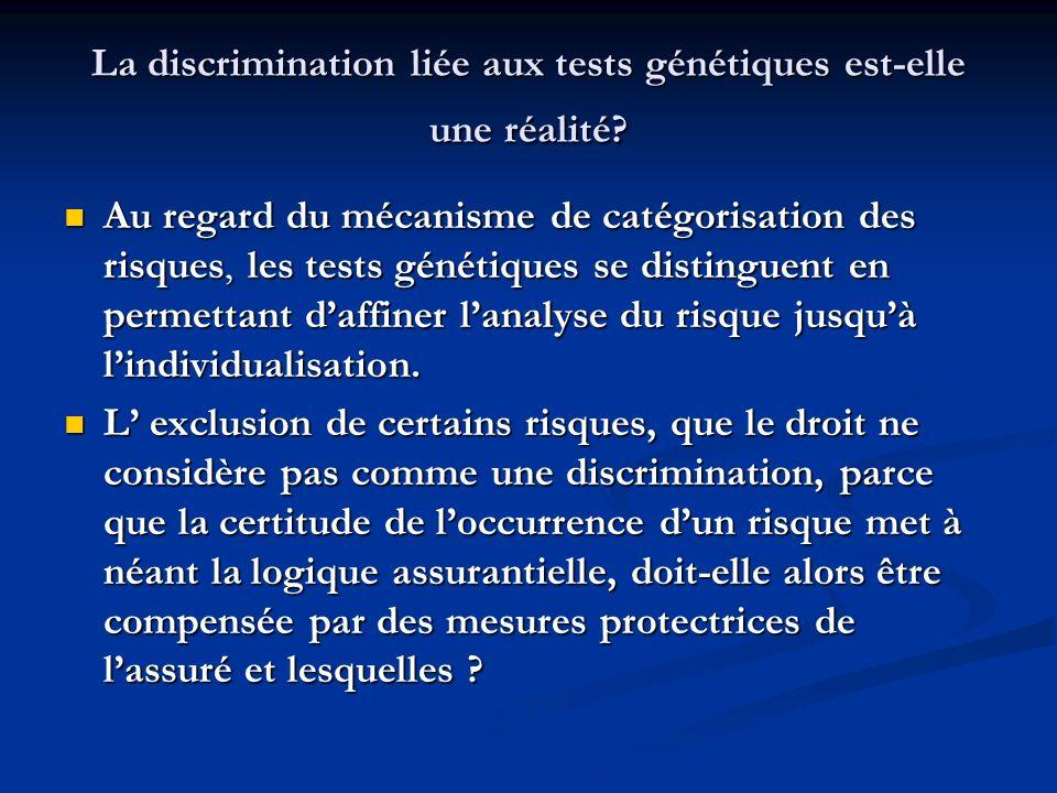 La discrimination liée aux tests génétiques est-elle une réalité