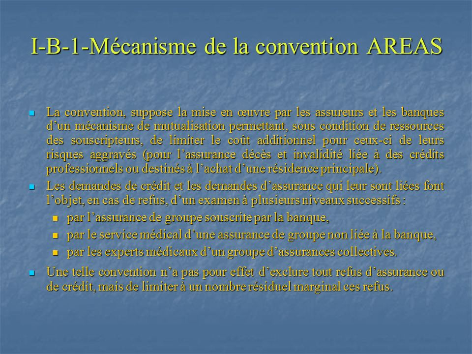 I-B-1-Mécanisme de la convention AREAS