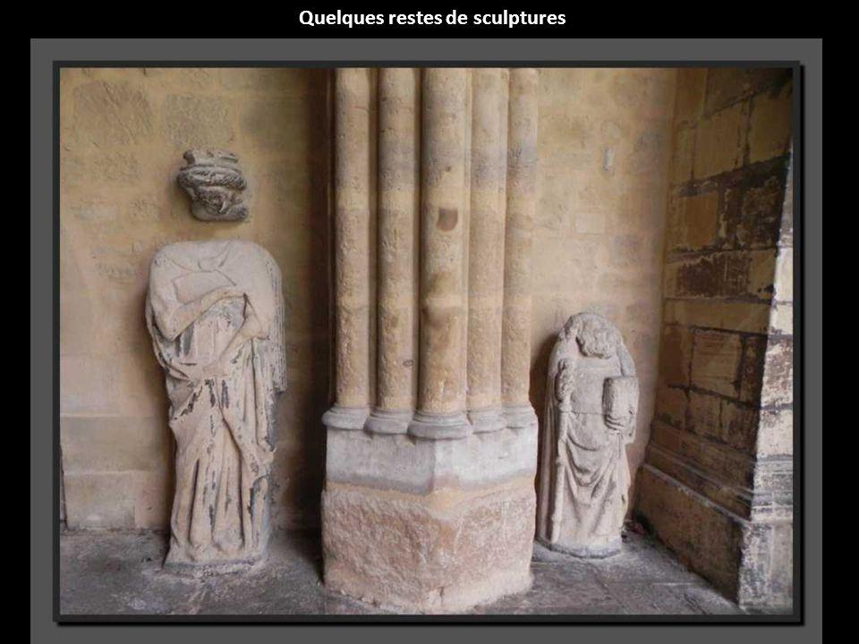 Quelques restes de sculptures