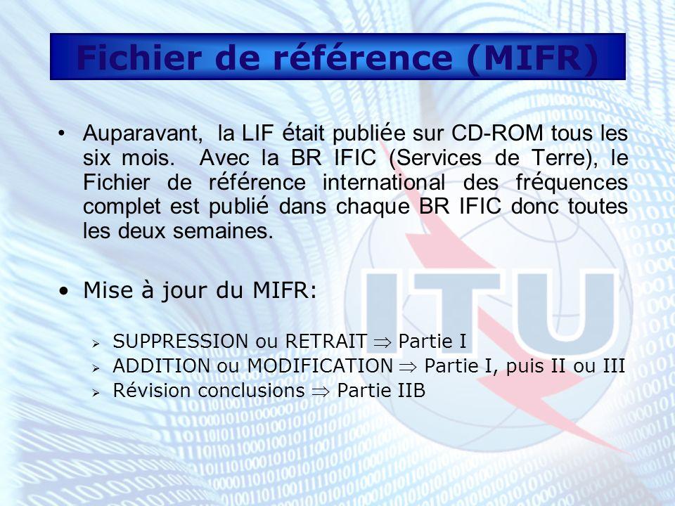 Fichier de référence (MIFR)