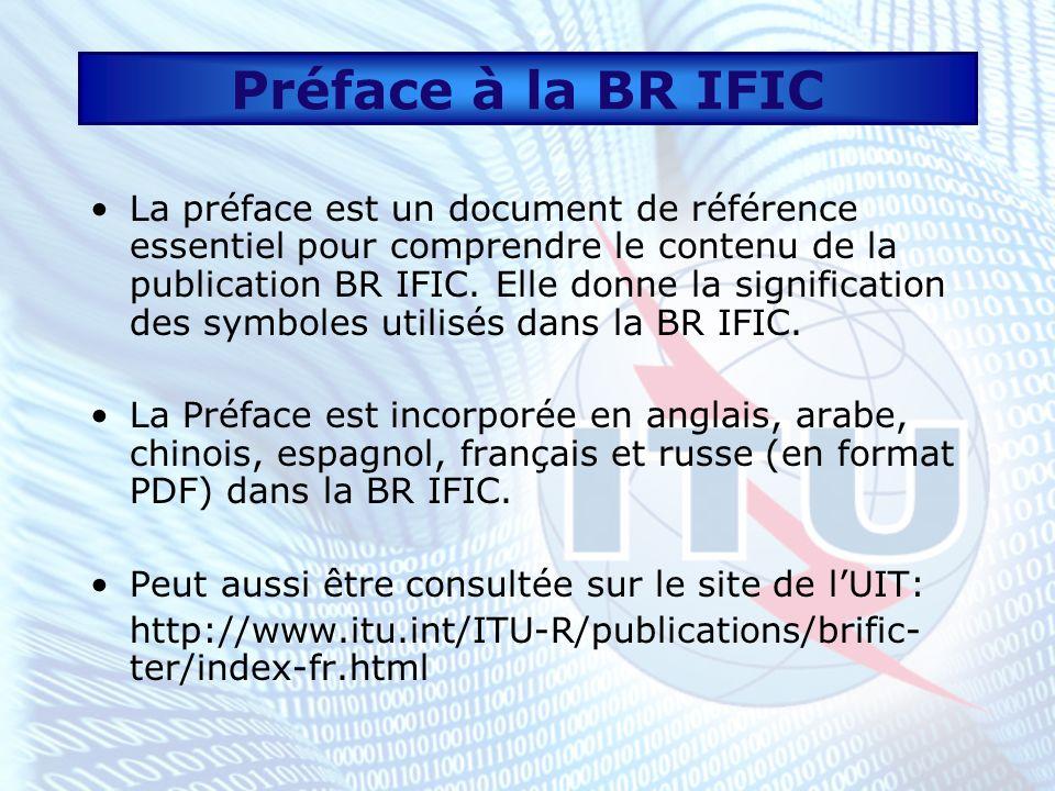 Préface à la BR IFIC