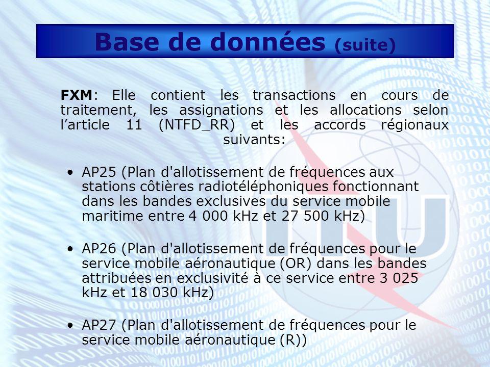 Base de données (suite)