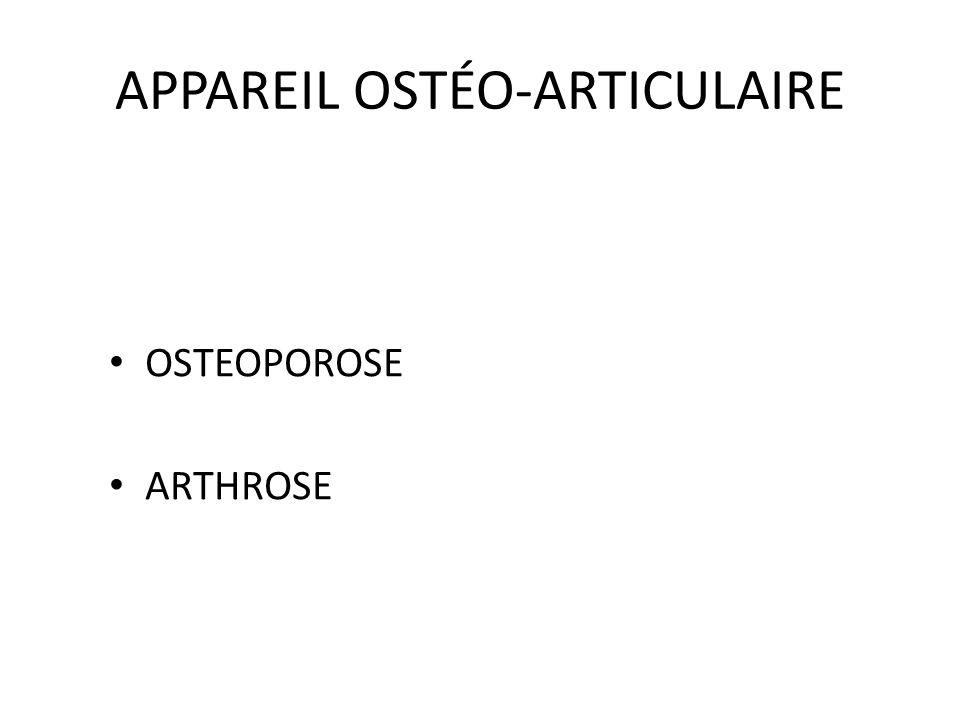 APPAREIL OSTÉO-ARTICULAIRE