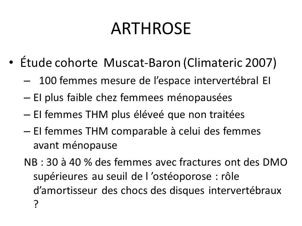 ARTHROSE Étude cohorte Muscat-Baron (Climateric 2007)