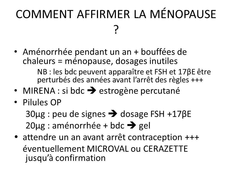 COMMENT AFFIRMER LA MÉNOPAUSE