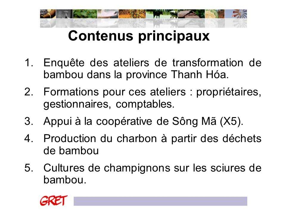 Contenus principaux Enquête des ateliers de transformation de bambou dans la province Thanh Hóa.