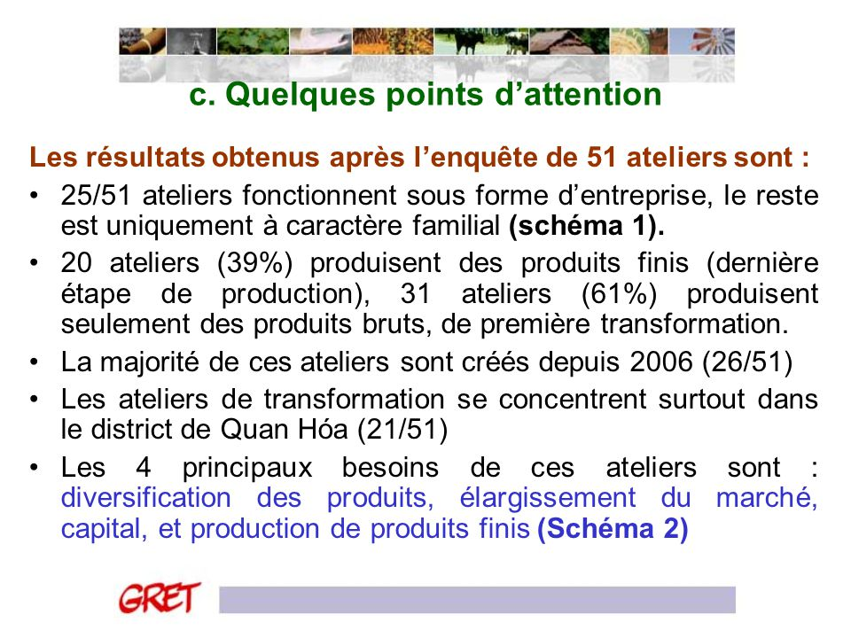 c. Quelques points d'attention