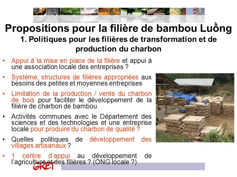 Propositions pour la filière de bambou Luồng 1