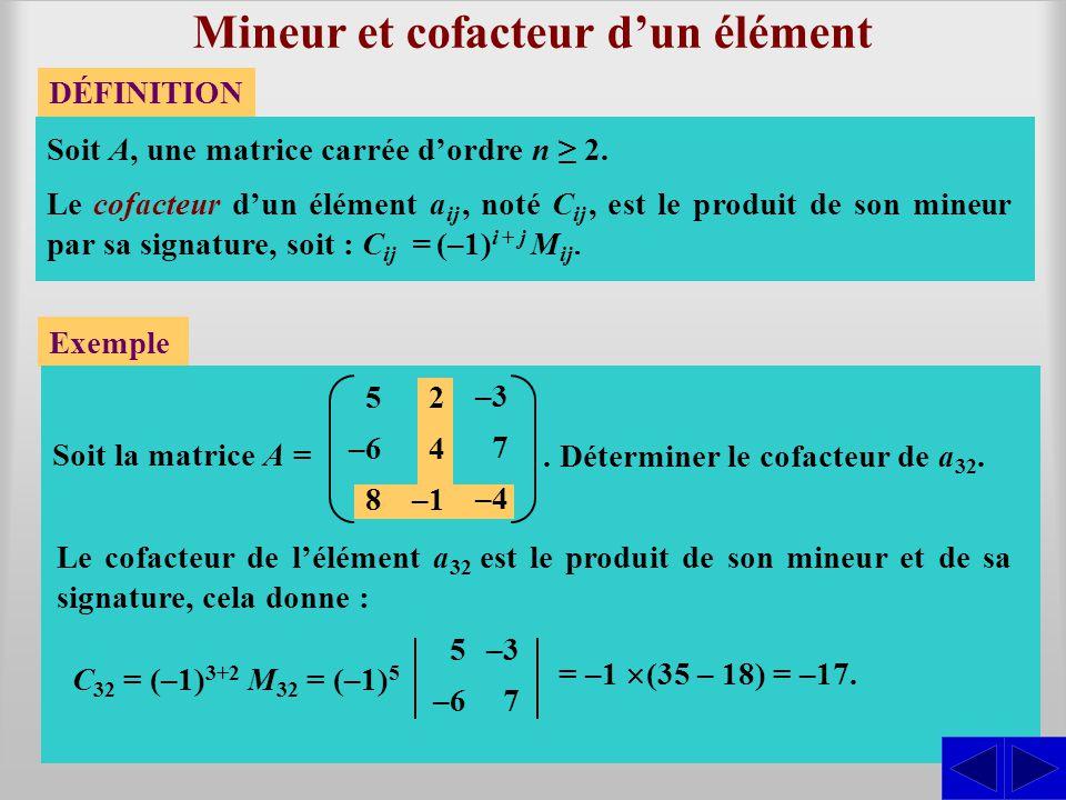 Mineur et cofacteur d'un élément