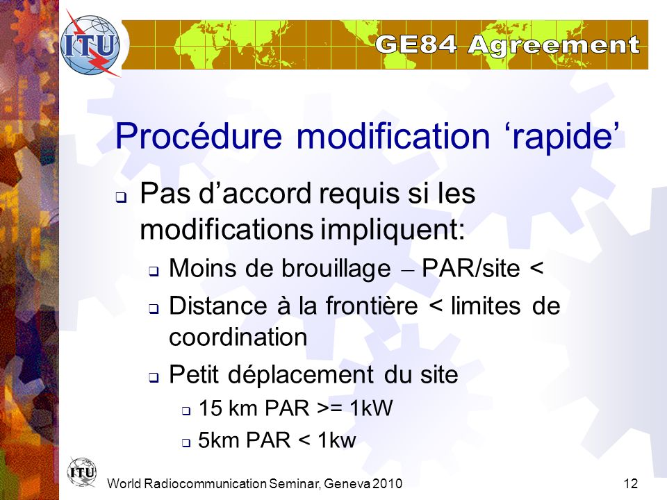 Procédure modification 'rapide'