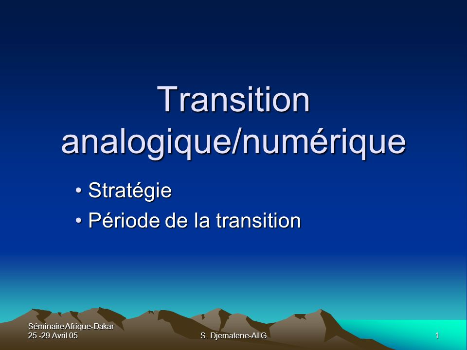 Transition analogique/numérique
