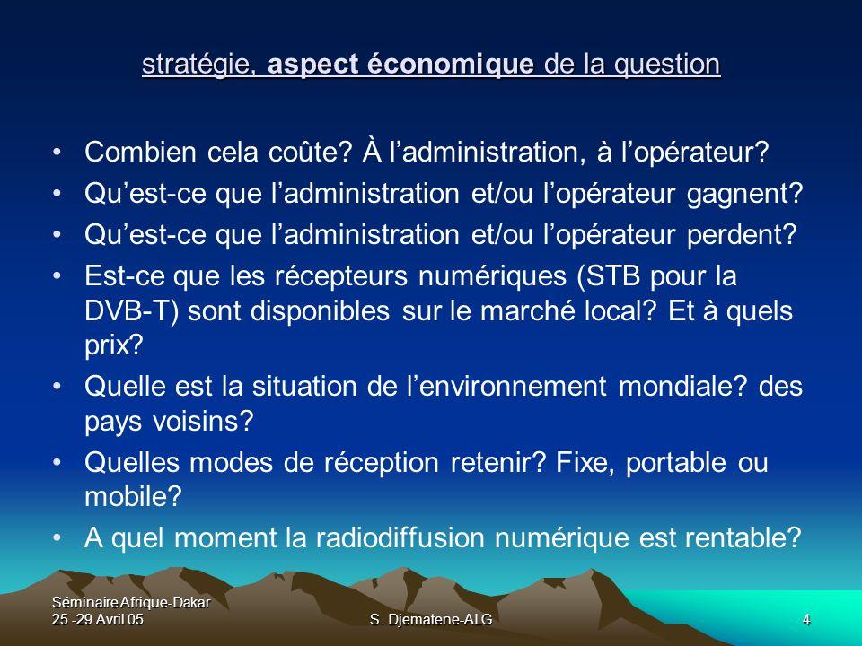 stratégie, aspect économique de la question