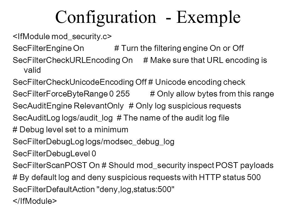 Configuration - Exemple