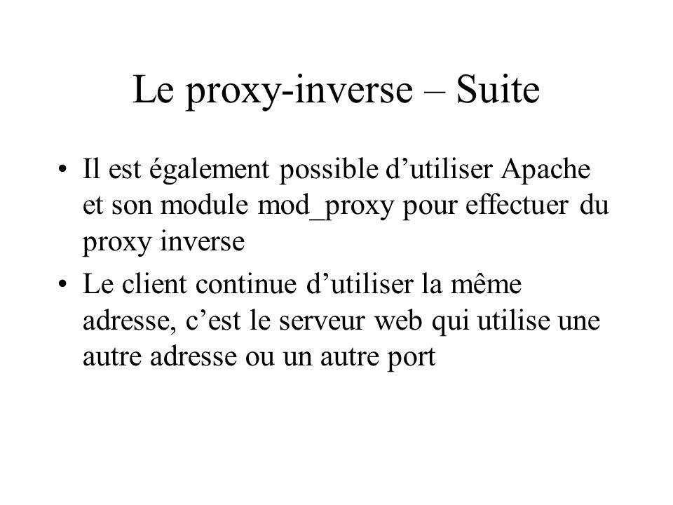 Le proxy-inverse – Suite
