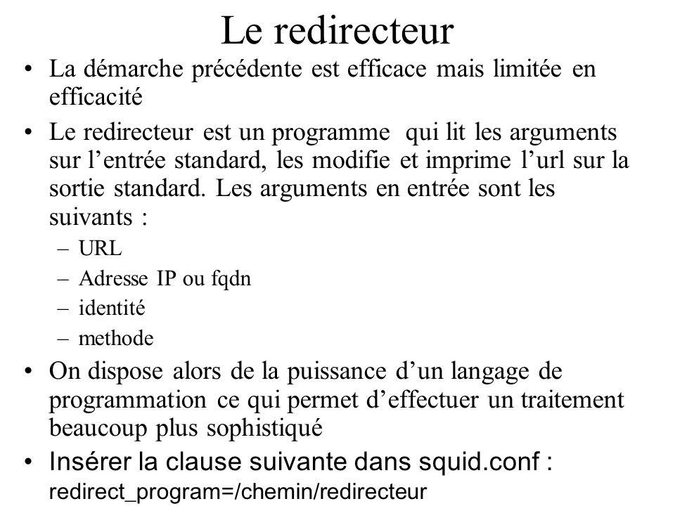 Le redirecteur La démarche précédente est efficace mais limitée en efficacité.