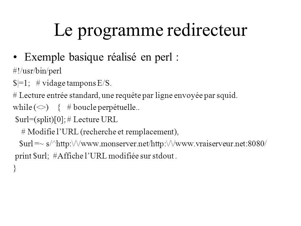 Le programme redirecteur