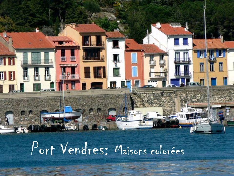 Port Vendres: Maisons colorées