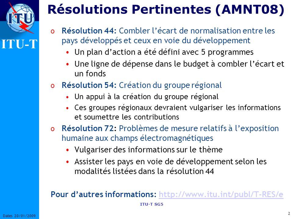 Résolutions Pertinentes (AMNT08)