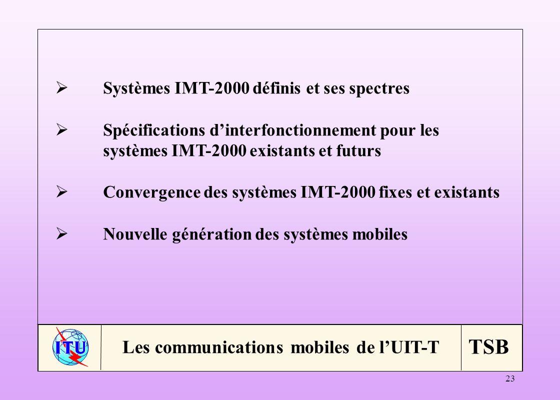 Les communications mobiles de l'UIT-T