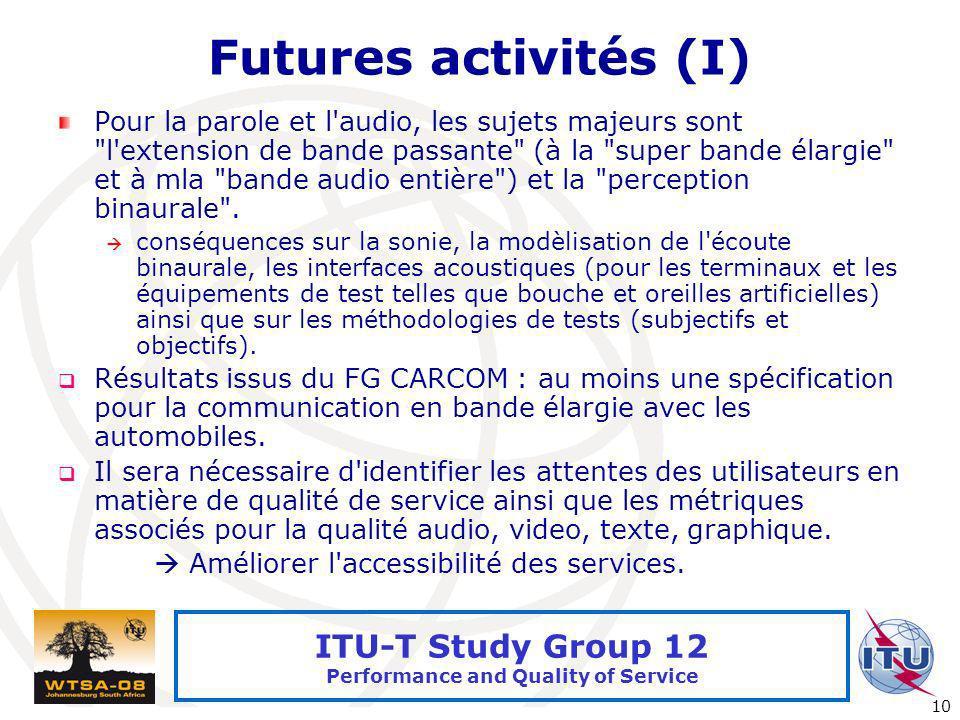 Futures activités (I)